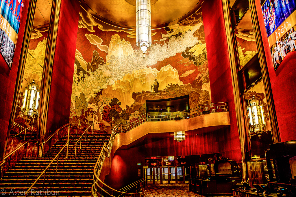 Radio City Music Hall - Art Deco Grand Foyer. Image courtesy:   thomwall.com