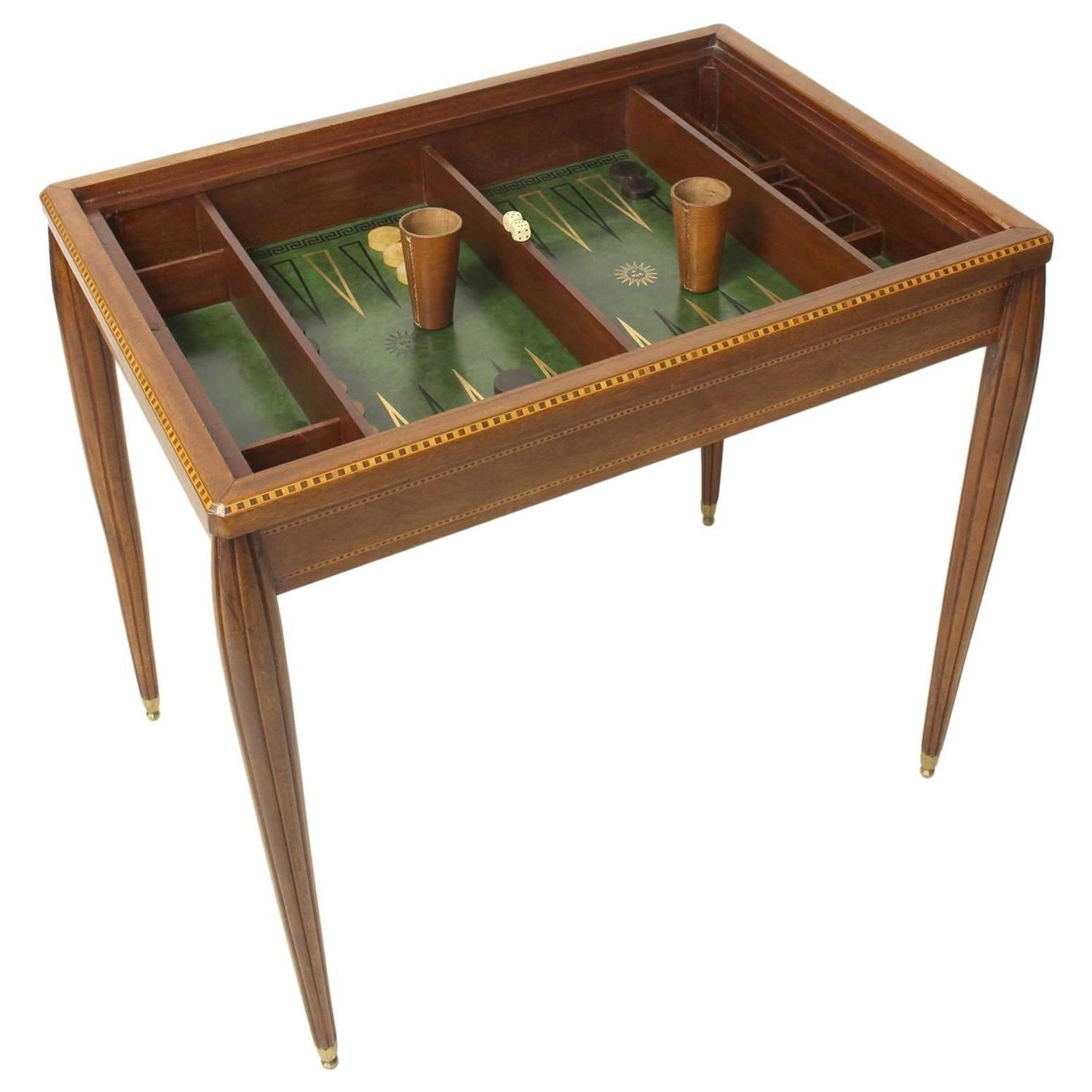 French Art Deco Backgammon/Games Table