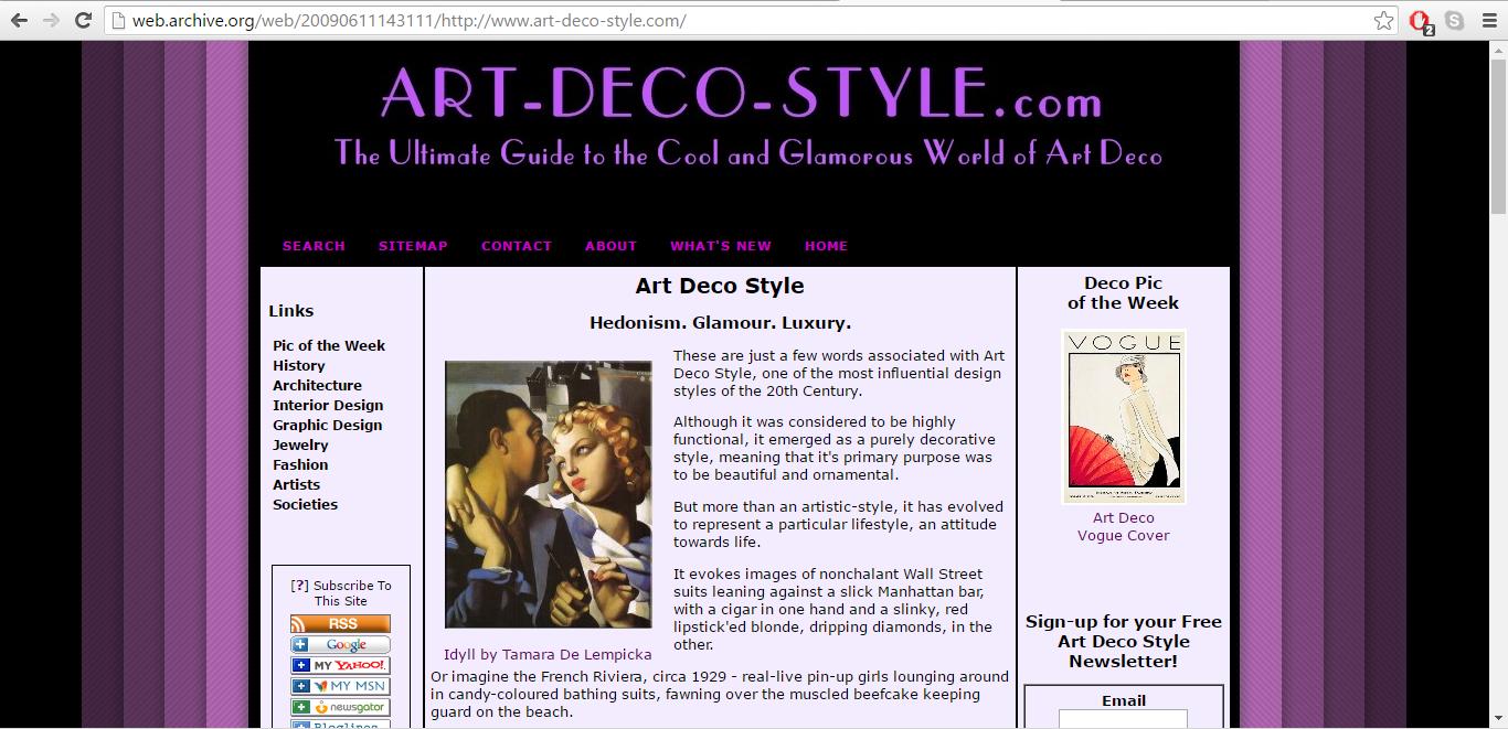 Art-Deco-Style.com June 2009