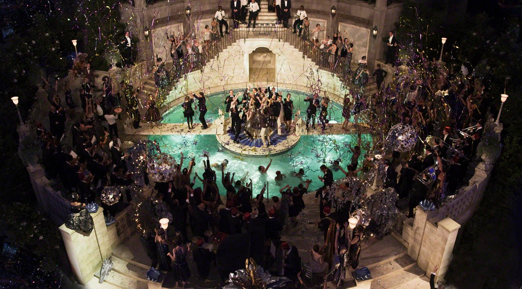 Party scene from The Great Gatsby movie.