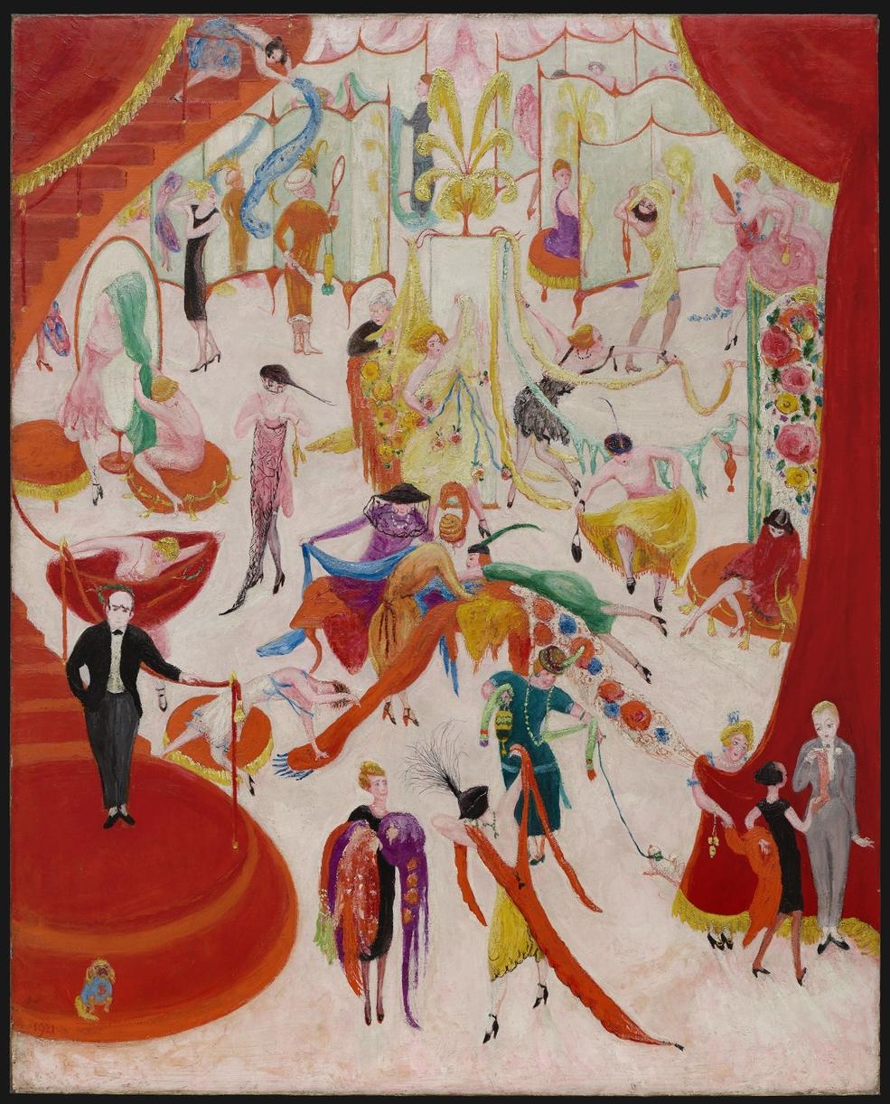 """Florine Stettheimer's """"Spring Sale at Bendels"""", 1921"""
