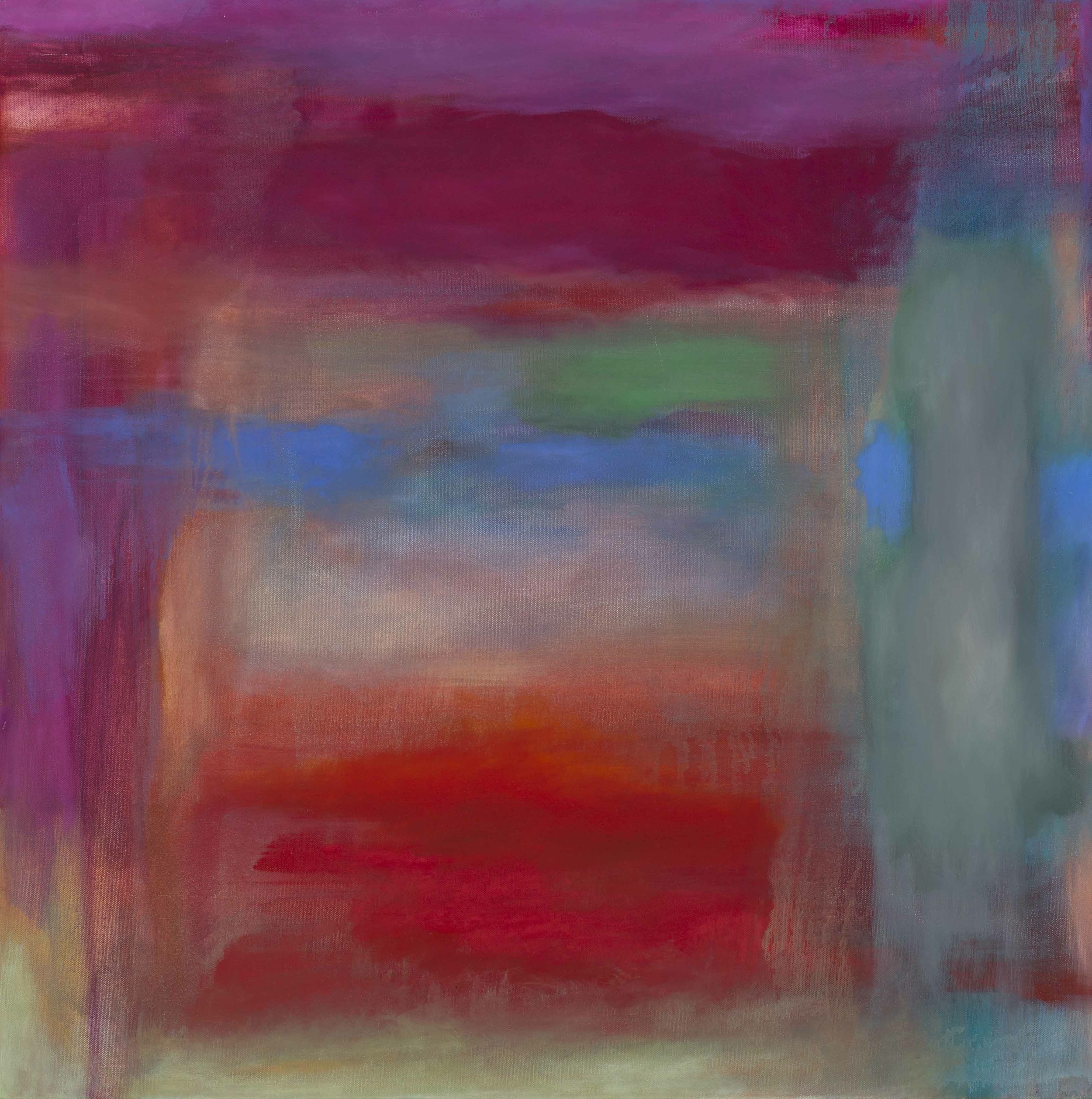 "Hush , oil on canvas, 30"" x 30"""