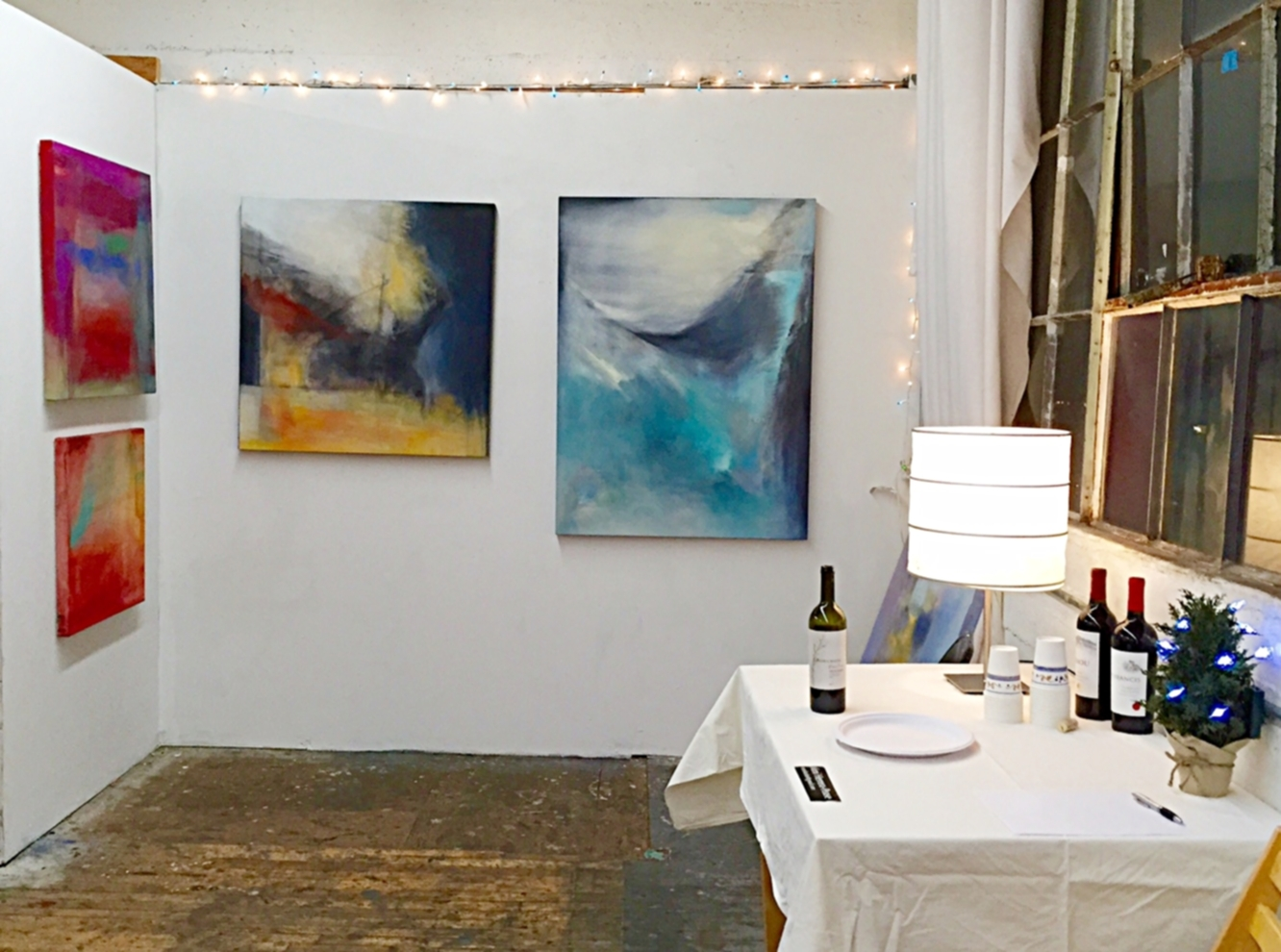 Previous studio on the 3rd floor at Art Explosion's Holiday Show. December 7, 2015