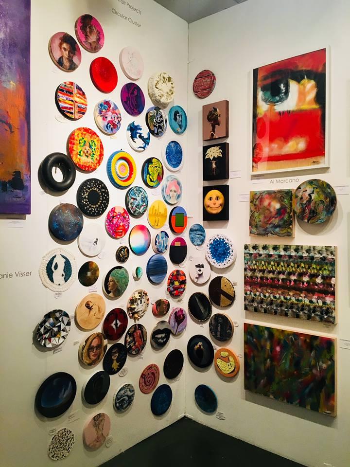 Polar Dusk  exhibited with bG Gallery, LA Art Show, Gestalt Projects:  Circular Cluster.
