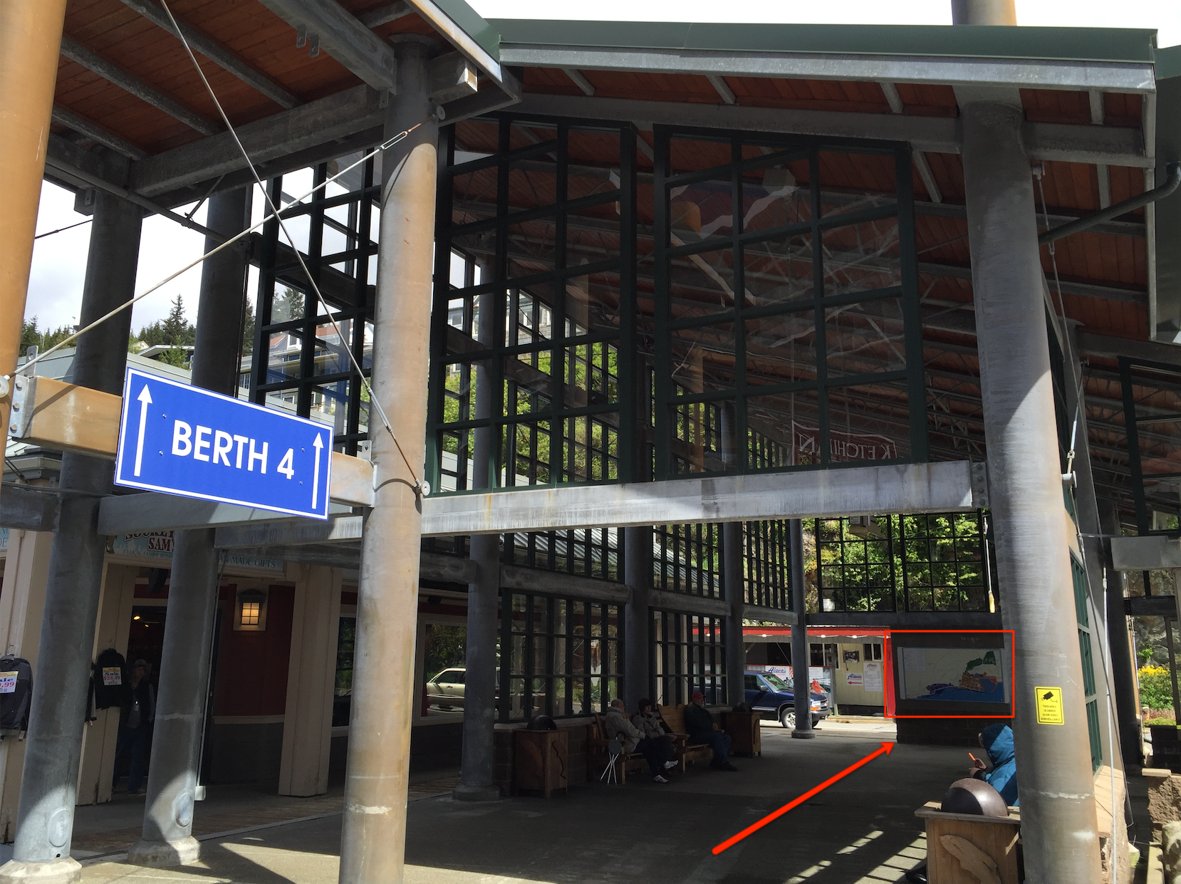 BERTH 3 SHELTER REFERENCE FOR MAP INSIDE (Exit gangway, turn left, straight ahead)