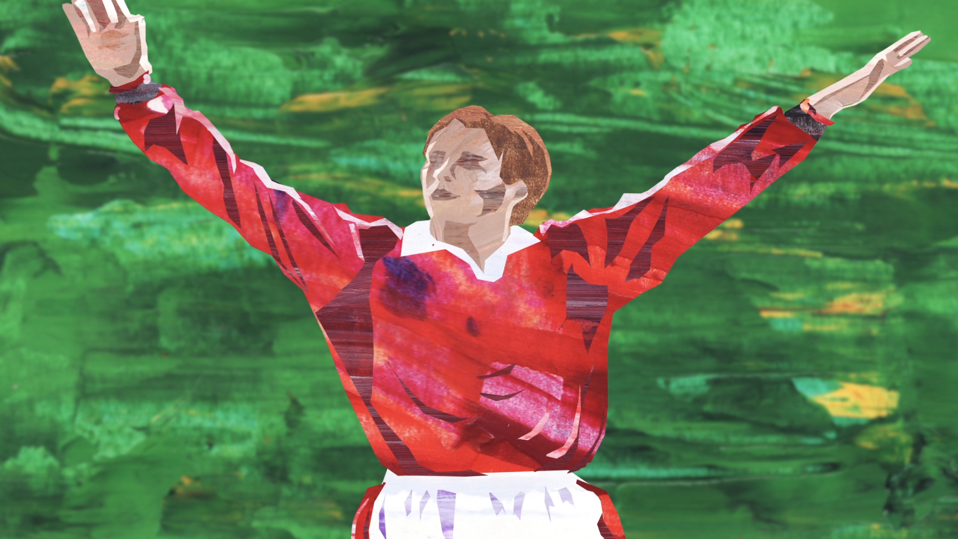 Beckham all painted up like