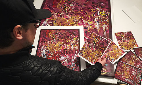 Matching a painting with a digital print