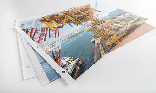 Digital printing portfolio prints