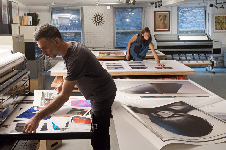 Brooklyn Editions working on large digital prints