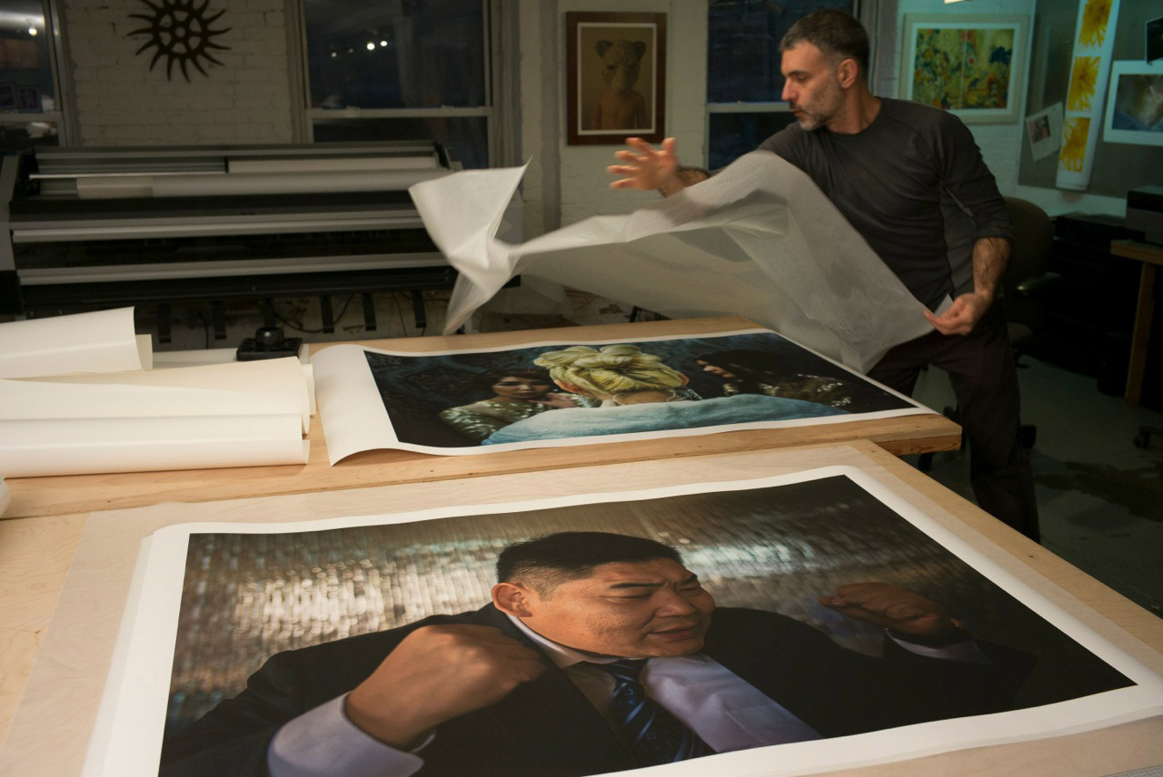 Digital photo printing large format