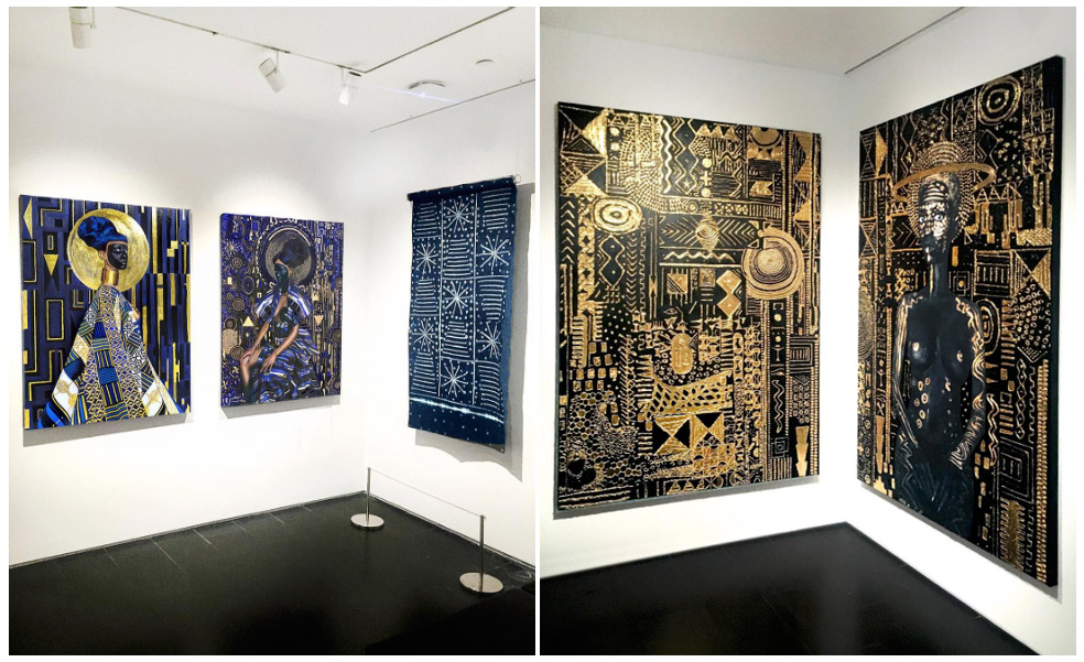 Digital Prints on Canvas at an exhibition