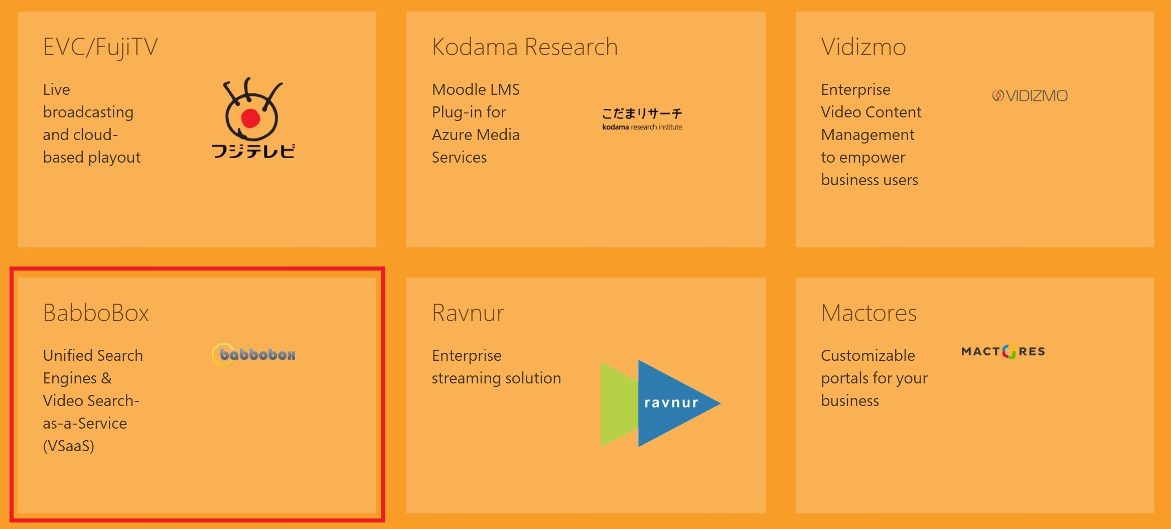Azure Media Services Babbobox Video Search Engine
