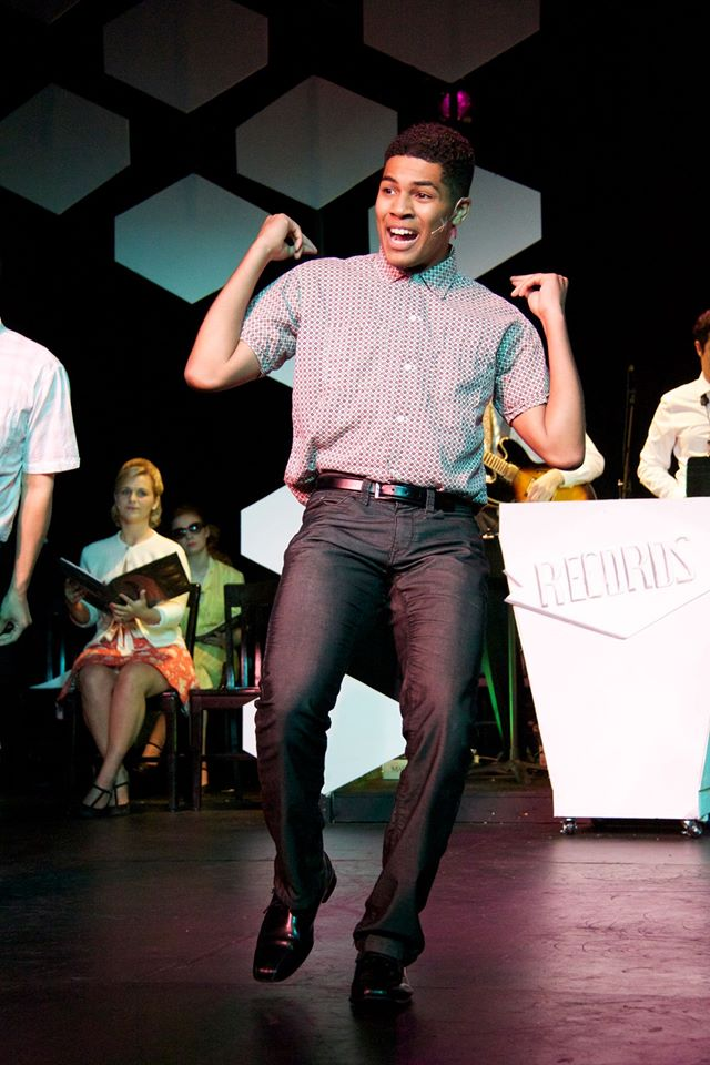 Christian Magby as Seaweed,  in  Hairspray.  SCAD Performance Ensemble, 2014.