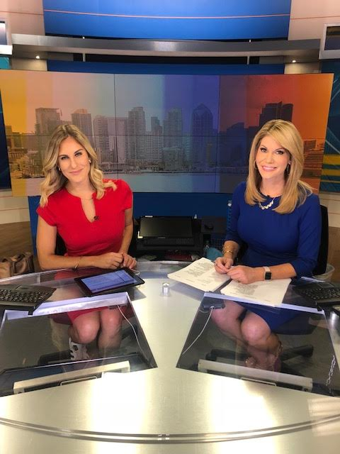 Ashley Jacobs (Left) and Heather Myers (right) both anchoring the news, CBS 8.