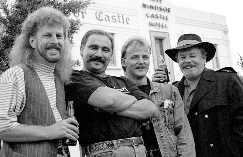 THE BLUES CLUB, 1990. L-R Barry Hills, Winston Galea, Geoff Achison, 'Dutch' Tilders