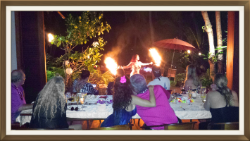 Hawaiian Fire Dancing, Hula Shows and Musical Entertainment added to your groups dinner party or event makes for a magical experience that will be richly remembered by all.