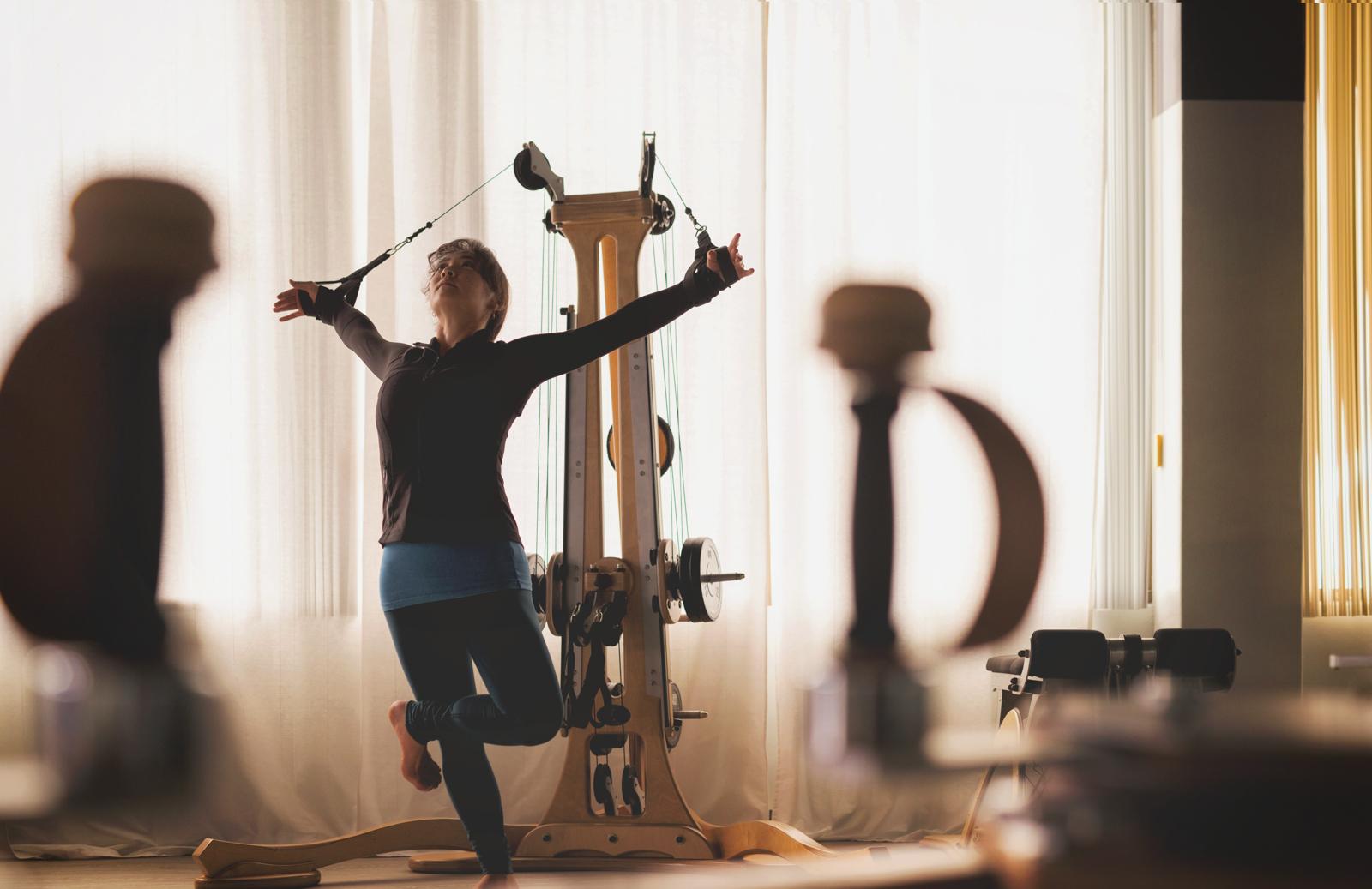 GYROTONIC® method Tower exercises.