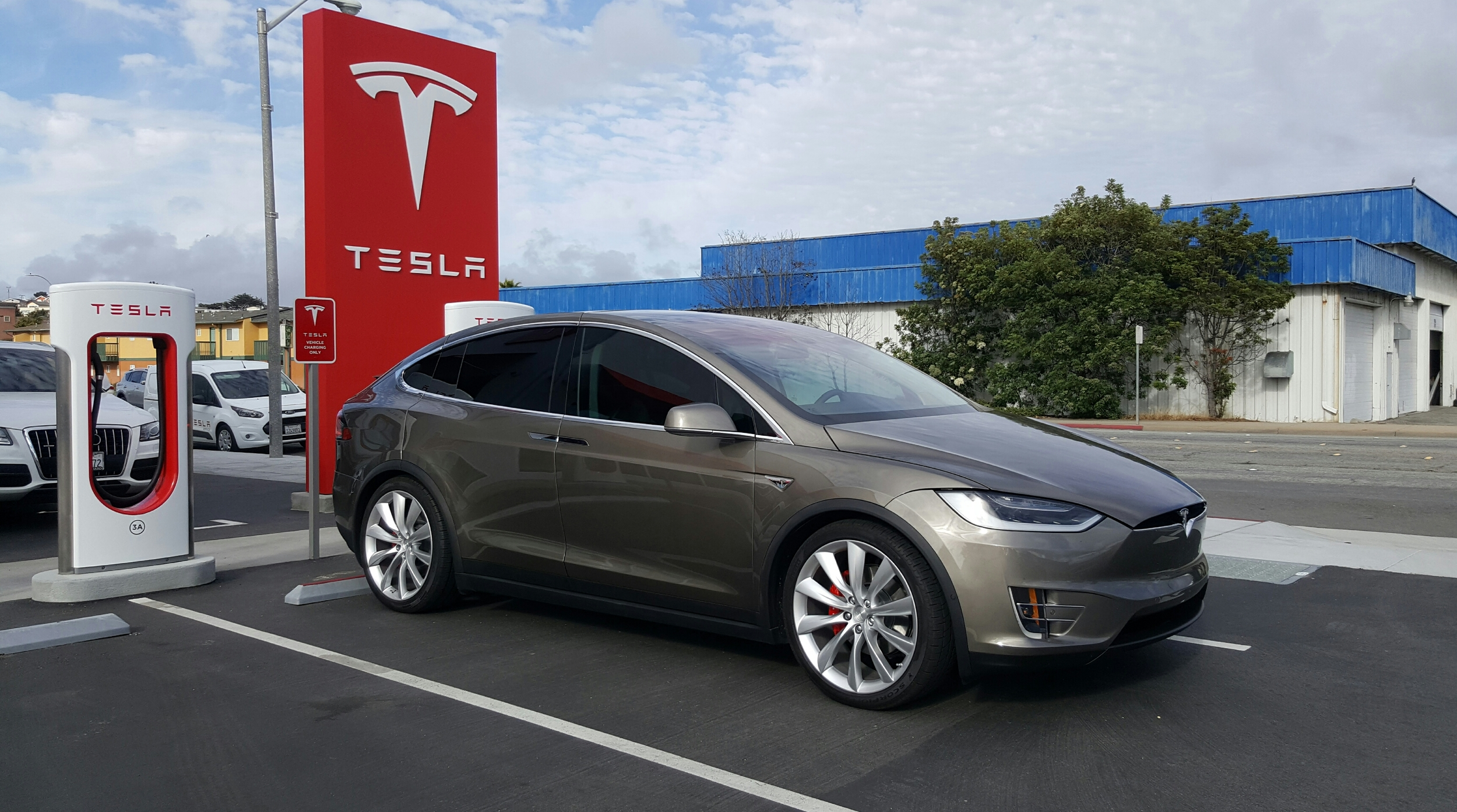 At the Supercharger in Seaside, CA