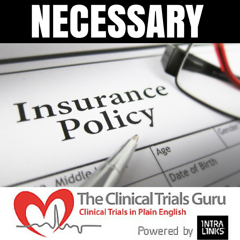 insurance for research sites ISN'T always easy to find, but it is important to obtain.