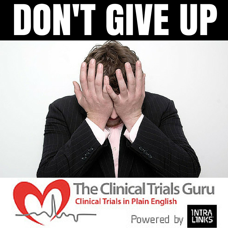 When screening takes too long, doubt and uncertainty Will tell you to give up.