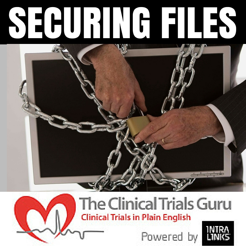 Once a study is closed all files relating to the study must be securely stored away.