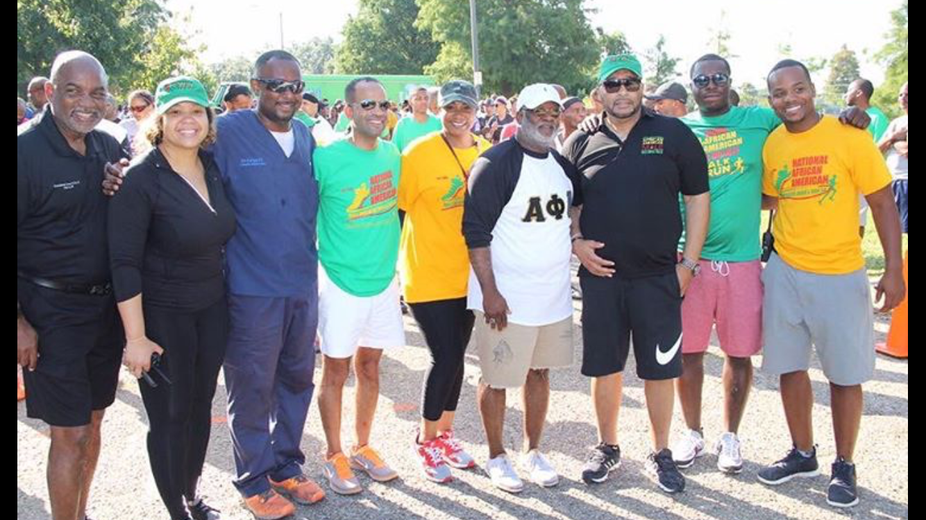 Volunteer chair the African American Male Wellness Walk