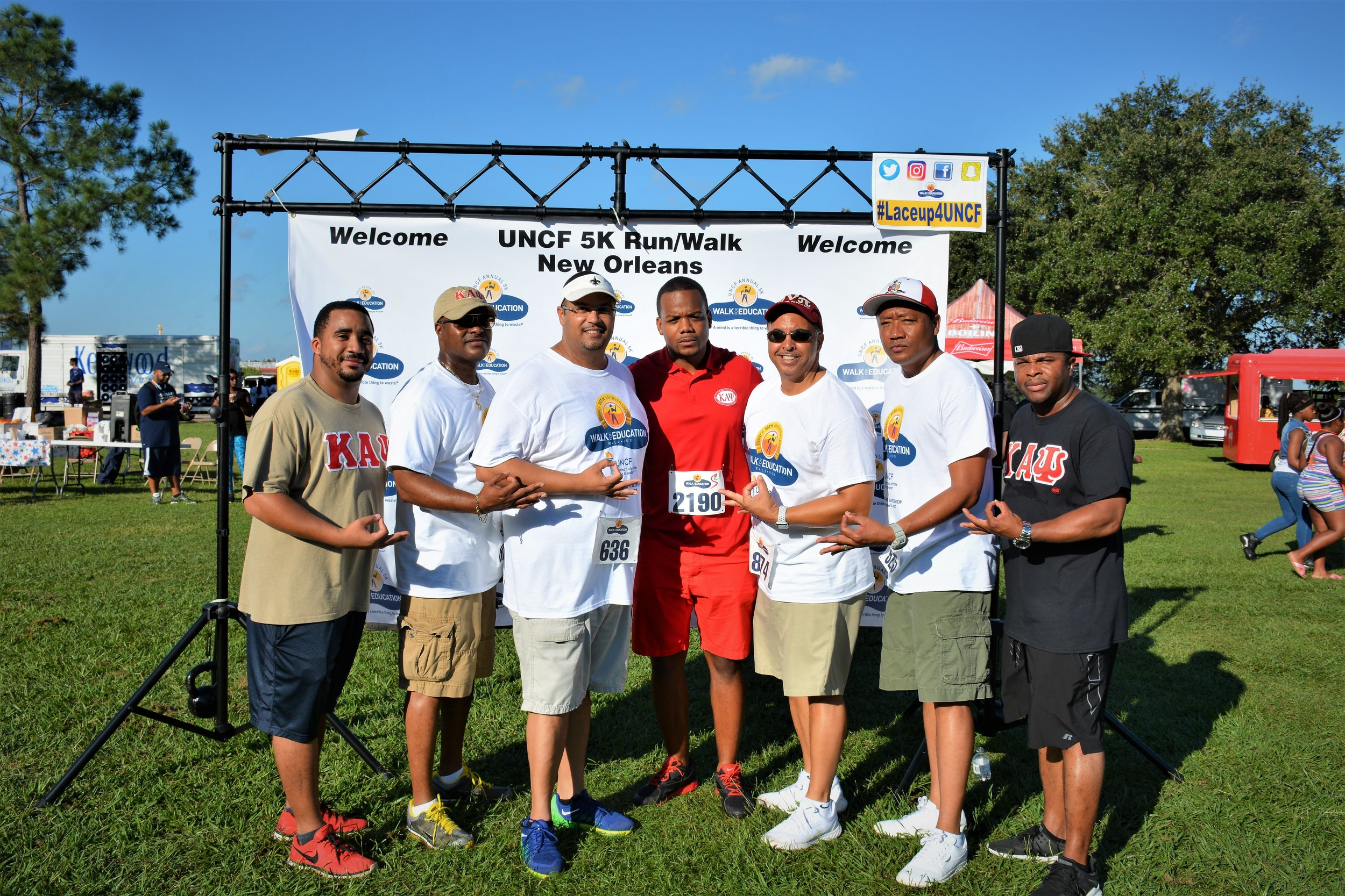 Supporting the UNCF walk with my Frat brothers