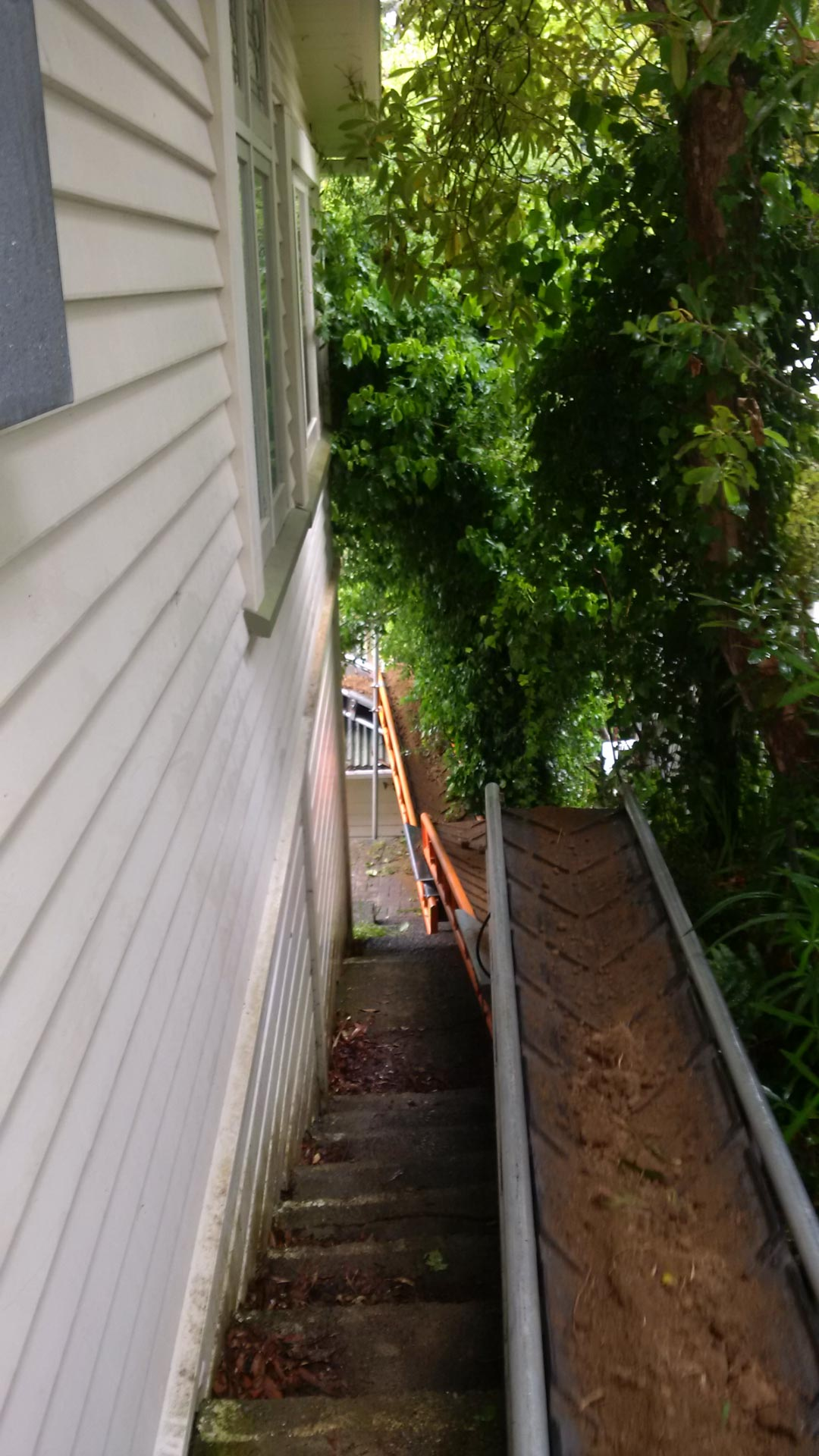 Removing soil in limited access area