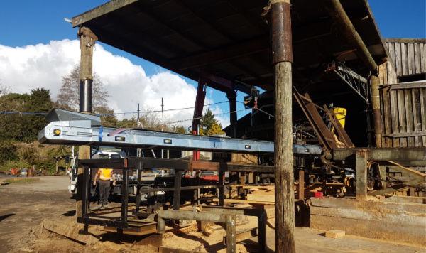 Modular Conveyor At An Industrial Processing Plant. NZ Conveyors