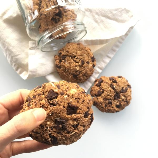 cookies de chocolate sin gluten sin lácteos sin refinados