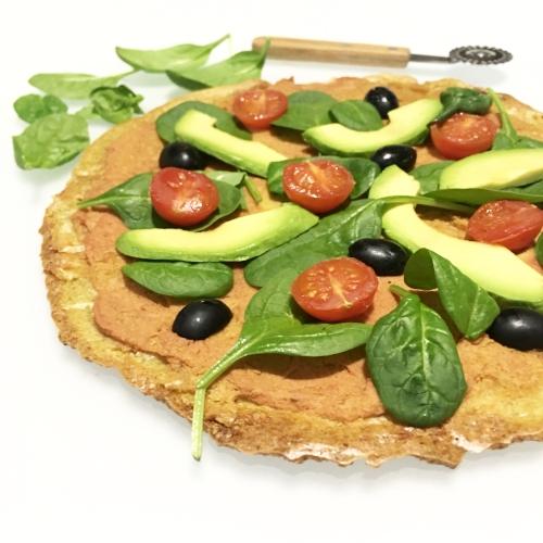 pizza de quinoa sin gluten