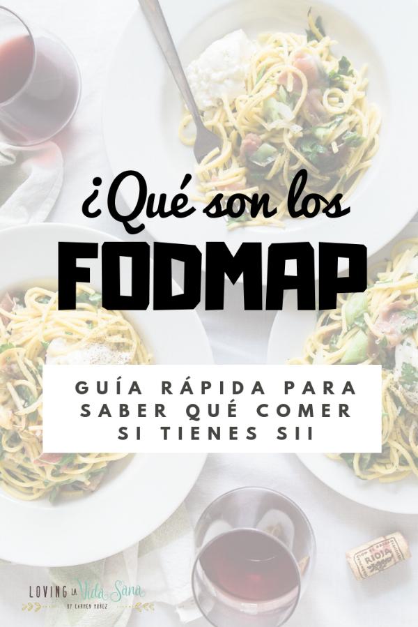 Dieta baja en FODMAP SII