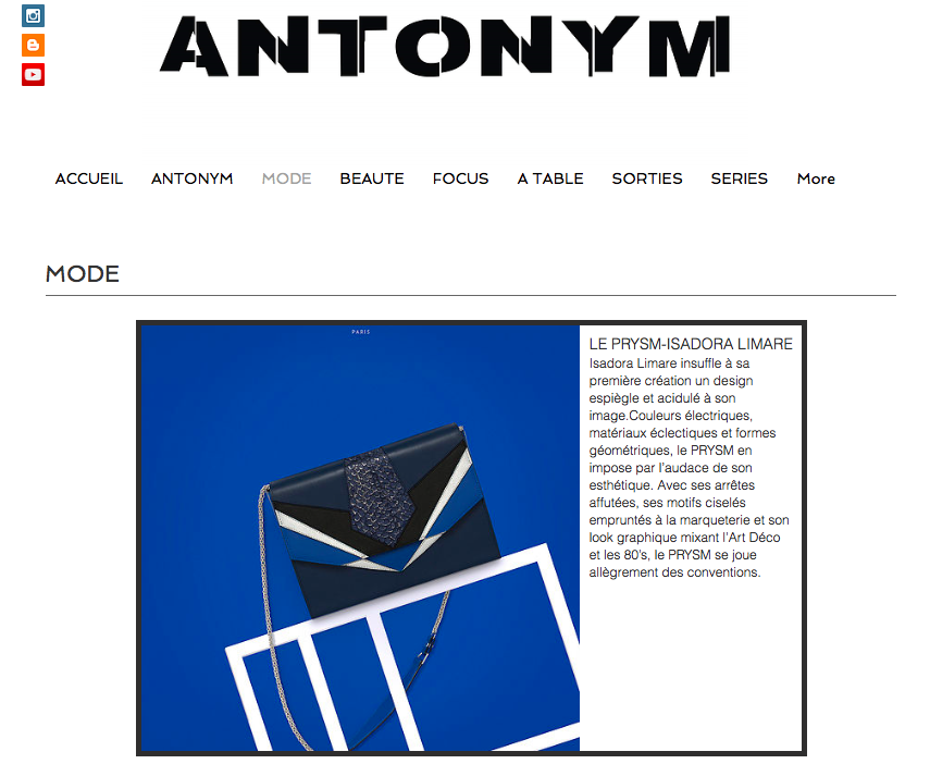 ANTONYM MAGAZINE PARUTION