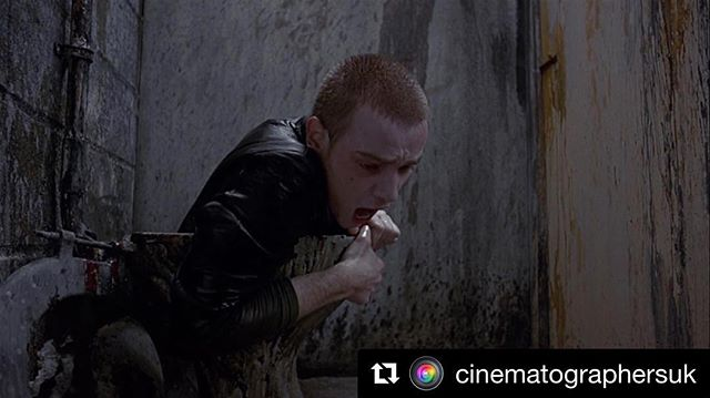 I'm hosting @cinematographersuk instagram for next week please give it a follow like and share ・・・ @dathers.dp here for a week of posts.  I didn't shoot this but I was fortunate enough to be taught by the man that did: Brian Tufano BSC. It's important to remember those who have helped you along the way and Brian is definitely the person whose has had the greatest influence on me. In particular his simplicity in lighting and ability to lock you into characters behaviour with his camerawork. His filmography is clearly impressive but what goes under the radar is that he's taught and implemented his school of thought on so many exciting DPs working in the industry today. There are not many others who can rival what he's done for cinematography in the UK. If you've got a memory or comment regarding Brian please write below - if we get enough i'd love to fax it to him.  Also a massive shoutout to @stuartrharris and everyone else at @nftscinematography who have helped and supported so many young cinematographers. . . . #cinematography #directorofphotography #trainspottingfilm #nfts #britishcinema #35mmfilm #filmschool #dannyboyle
