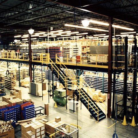 HS Industrial Mezzanine installation