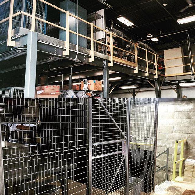 Recent Mezzanine and wire rack installation.