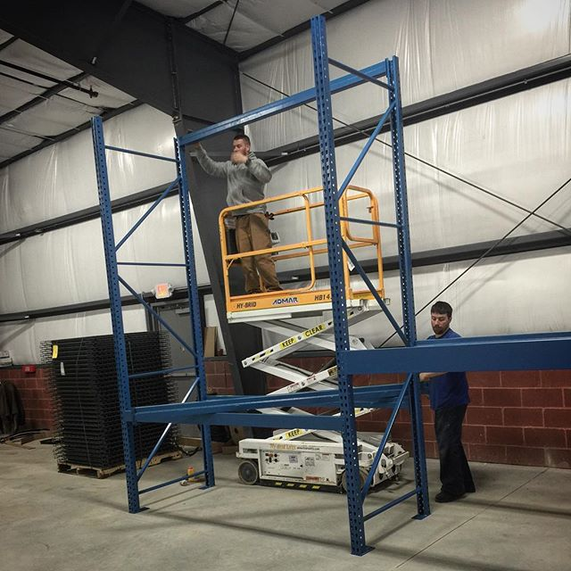 Rack install from this morning 4/12.  #materialhandling #storagesolutions