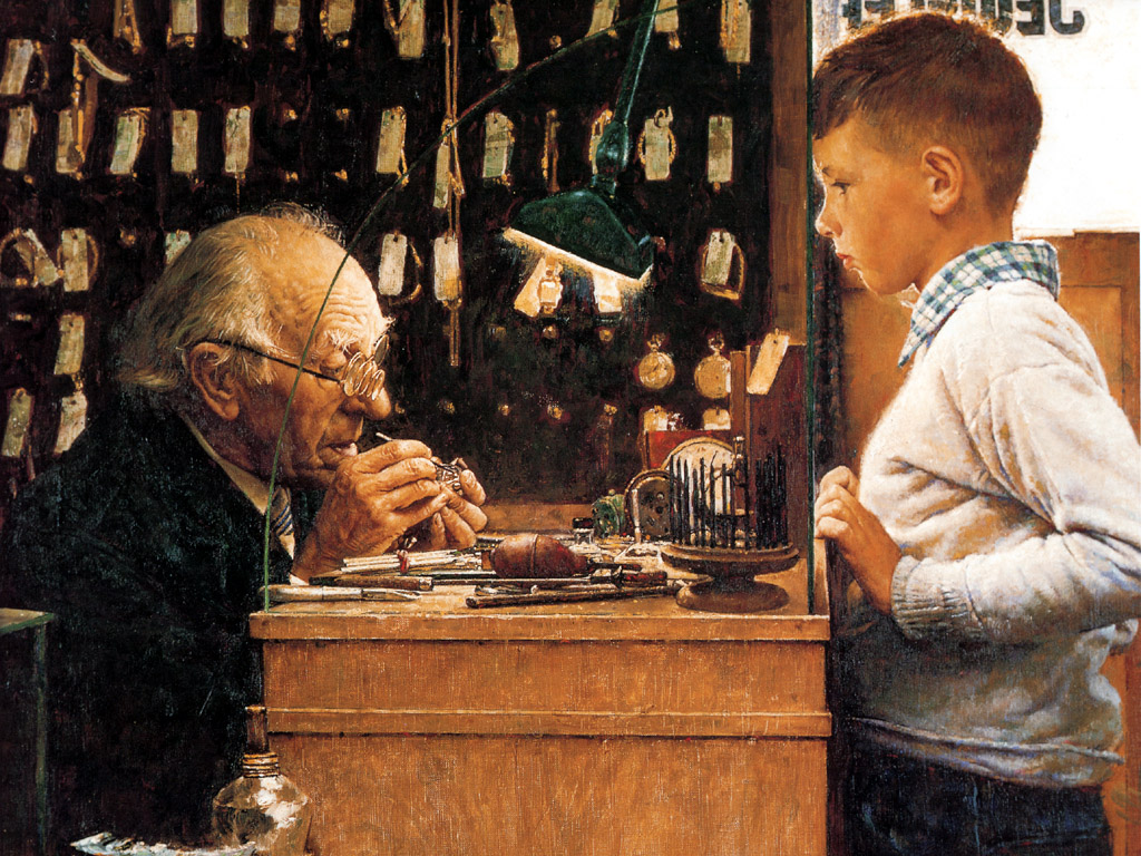 © Norman Rockwell - The watchmaker of Switzerland