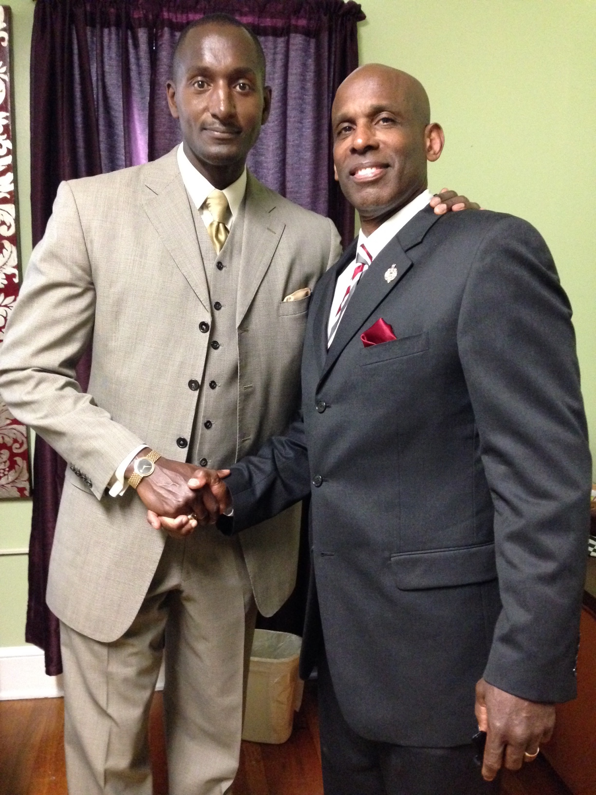 Carl and Dr. Randall Pinkett