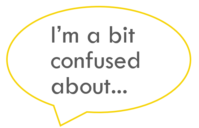Pupil talk prompt: I'm a bit confused about…