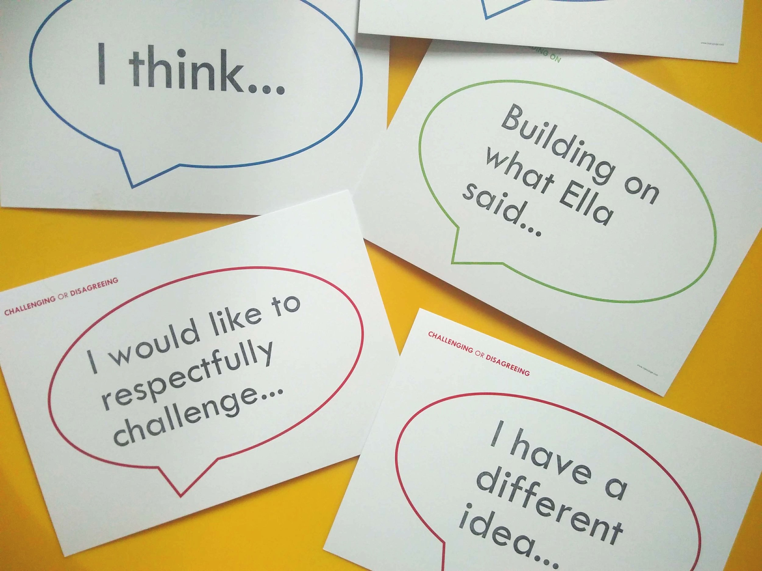 A selection of Pupil Talk Prompts