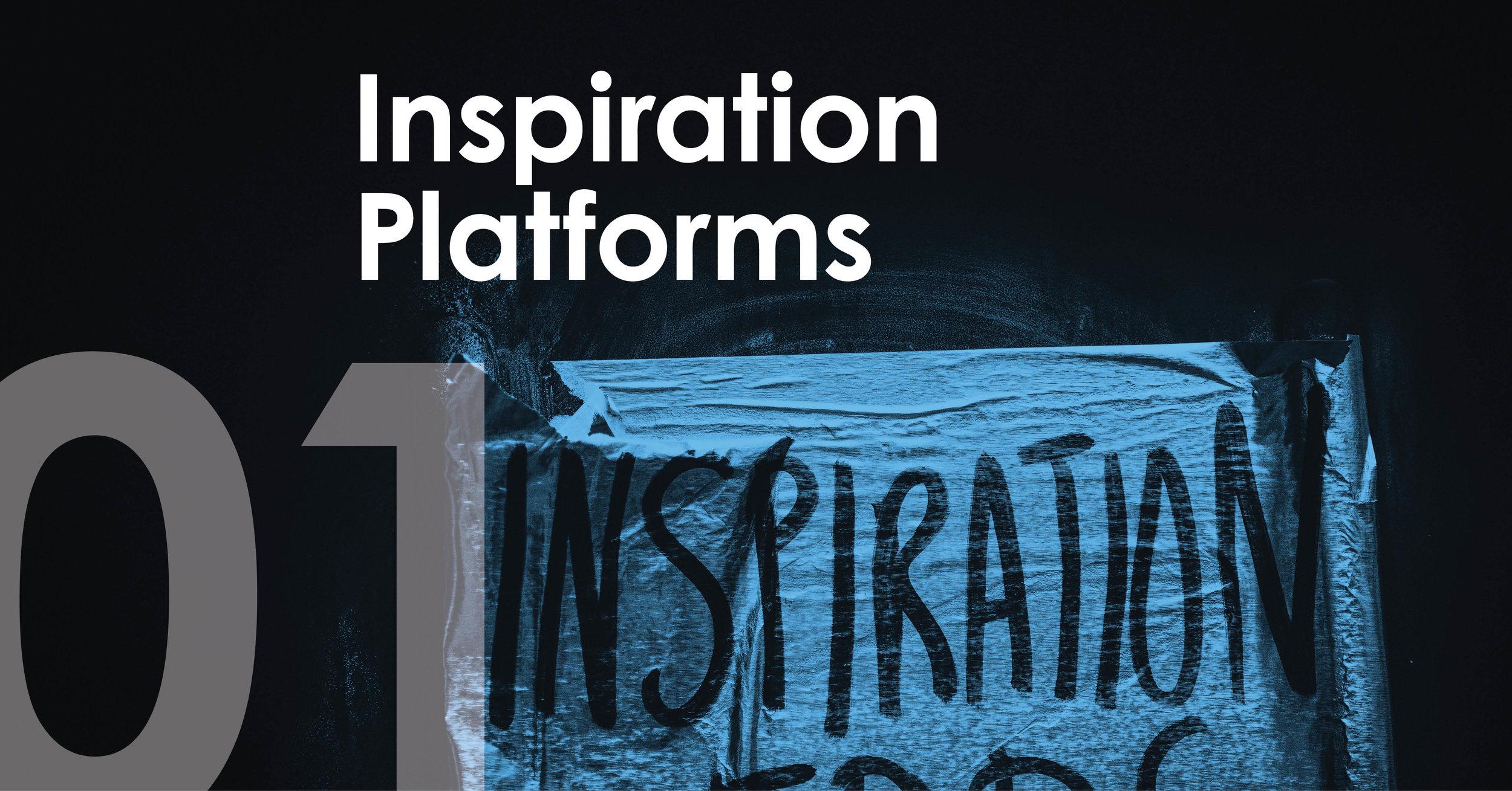 01. Inspiration platforms