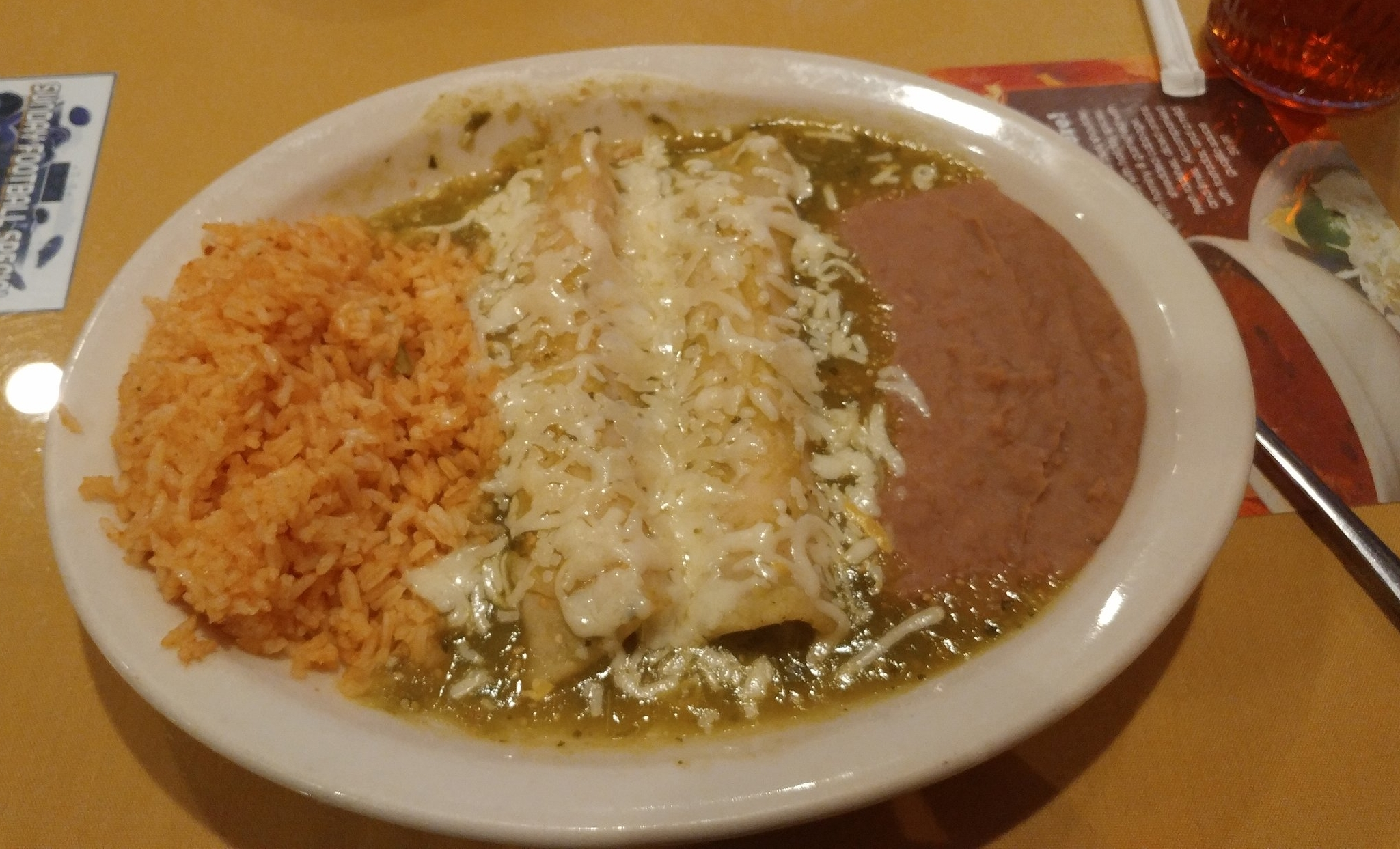 Chicken Enchiladas - with tomatillo sauce