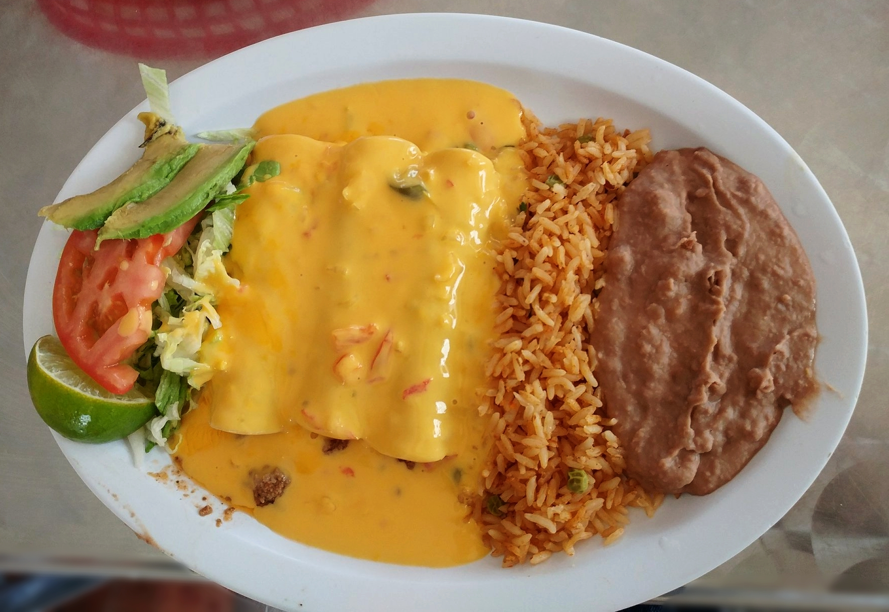 Beef with Chili con Queso -