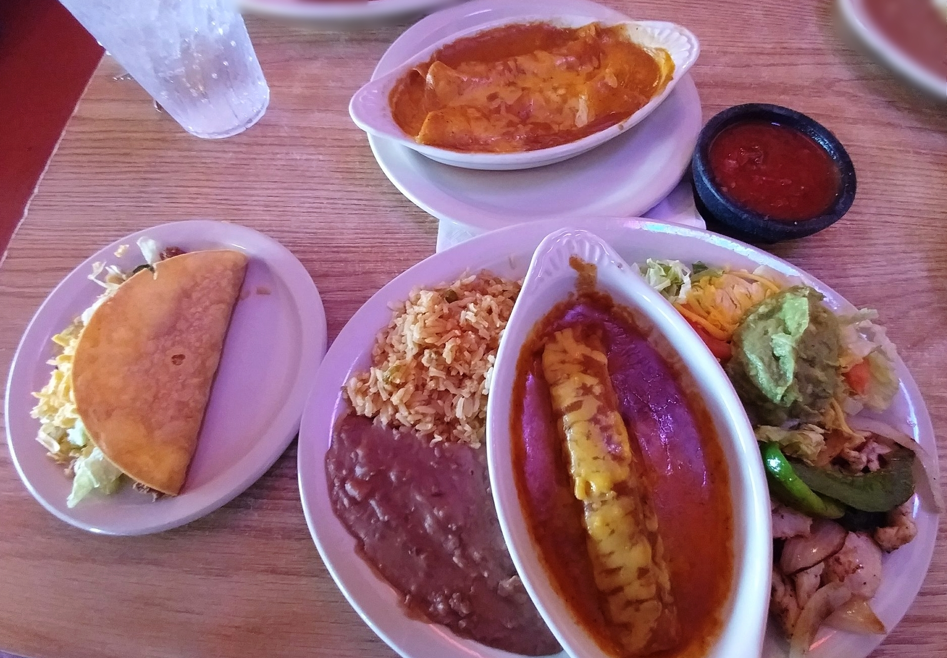 Super Combo - with two cheese enchiladas
