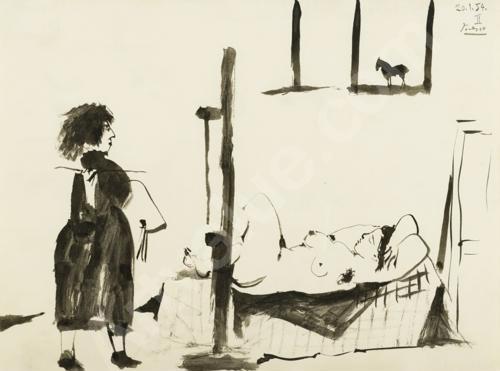 Pablo Picasso, Femme, Peintre, Modele, 1953-54