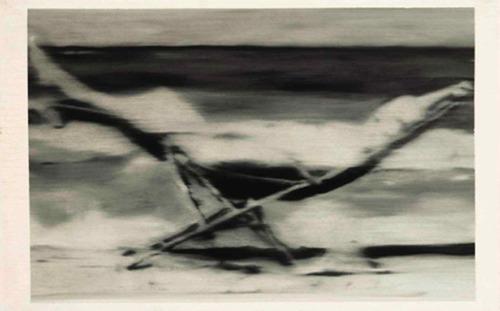 Gerhard Richter, Mädchen im Liegestuhl (Girl in Deckchair), 1964
