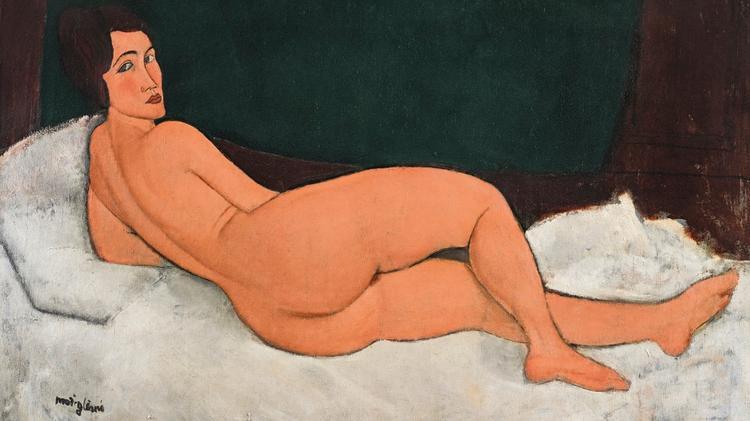 Amedeo Modigliani, Nu couche (sur le cote gauche), 1917