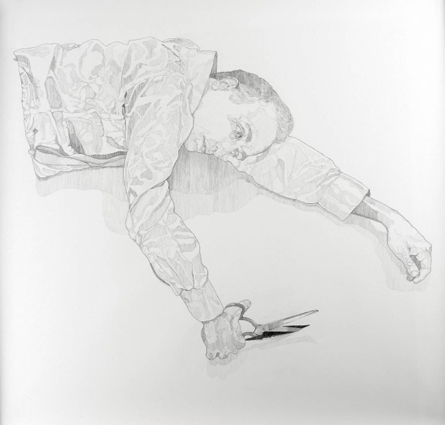Interstice, 2012  Pencil on paper. dimensions: 125*130 cm. Exhibited at    Made to Measure  Marie-Laure Fleisch gallery, Rome