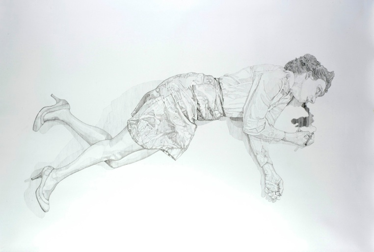 Trace, 2012  Pitt pencil on paper. dimensions: 140*210 cm. Exhibited at    Made to Measure  Marie-Laure Fleisch gallery, Rome